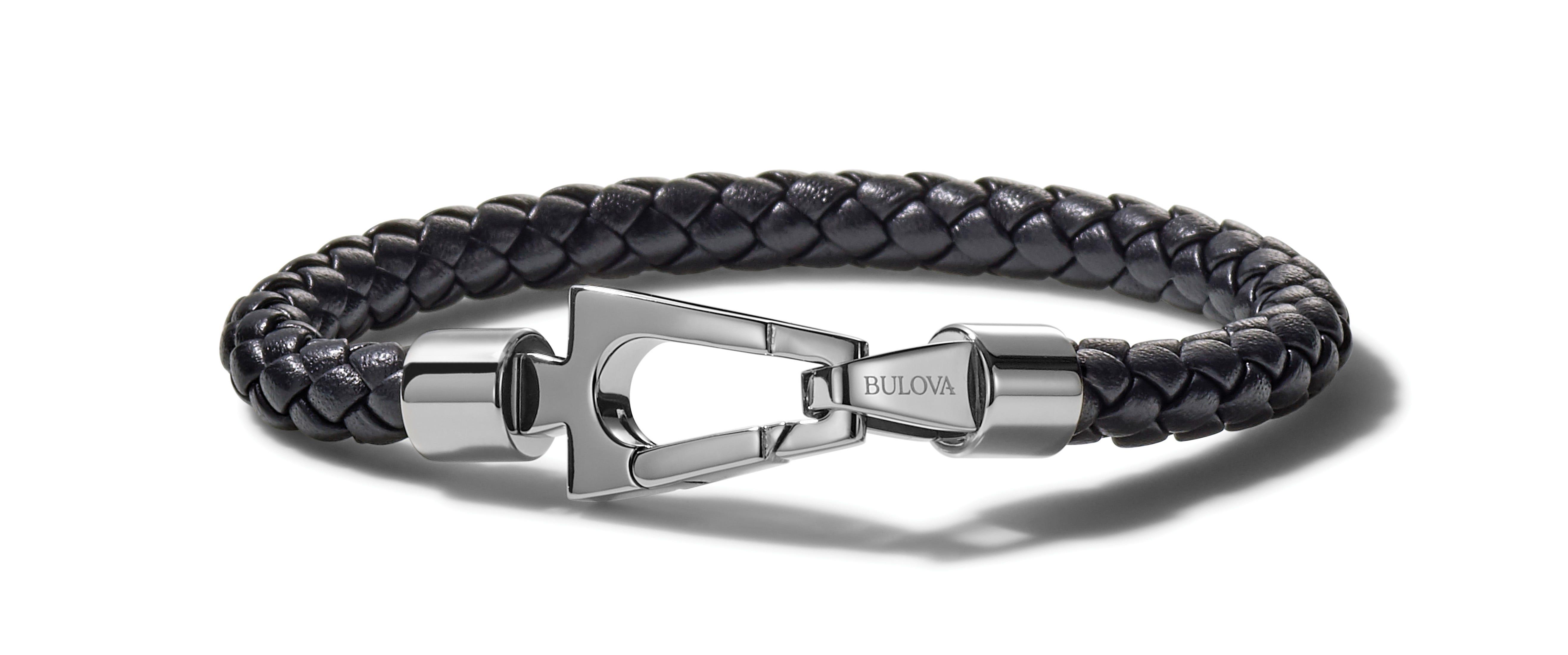 Bulova Marine Star Leather Bracelet J96B029L