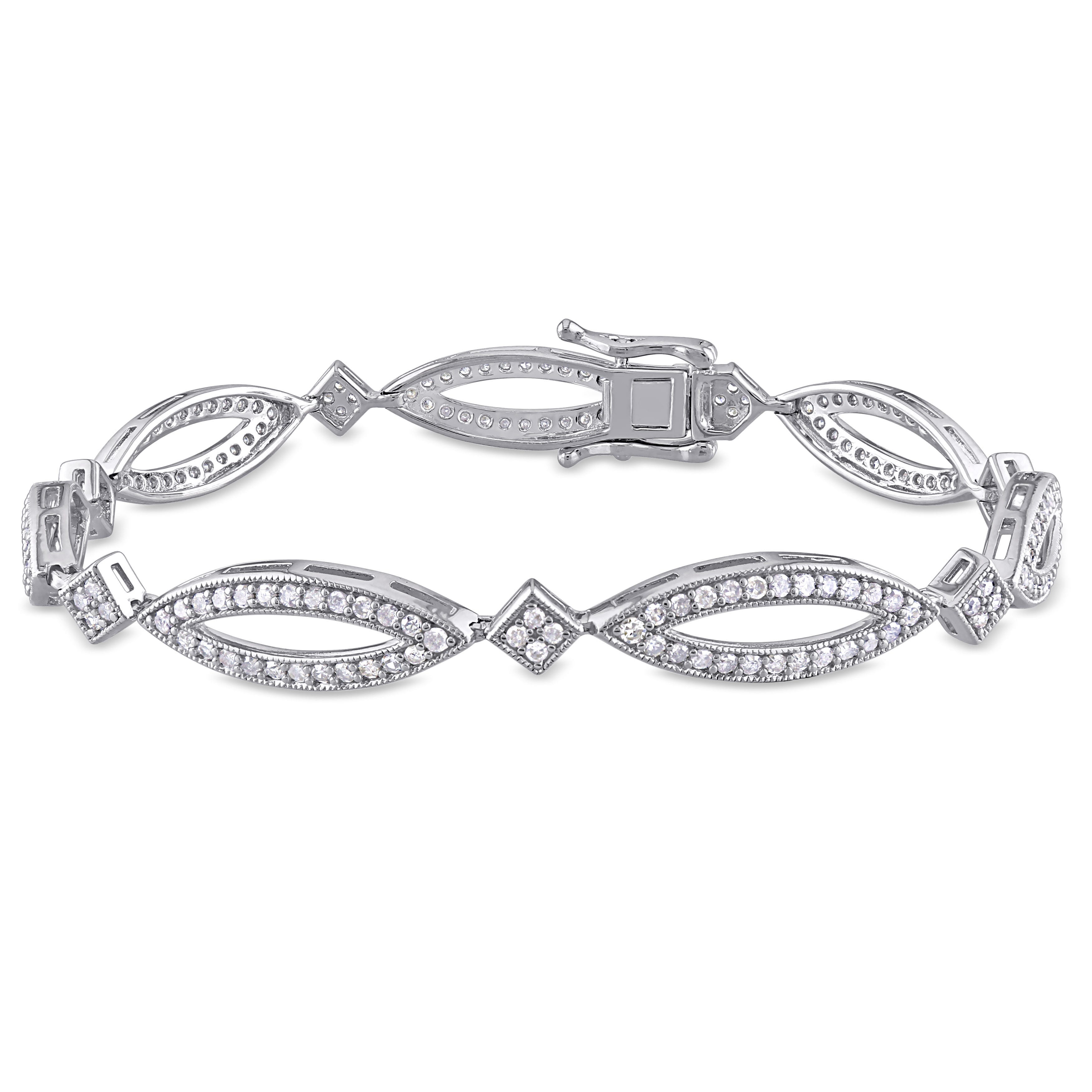 Diamond Infinity Tennis Bracelet 2ctw in Sterling Silver