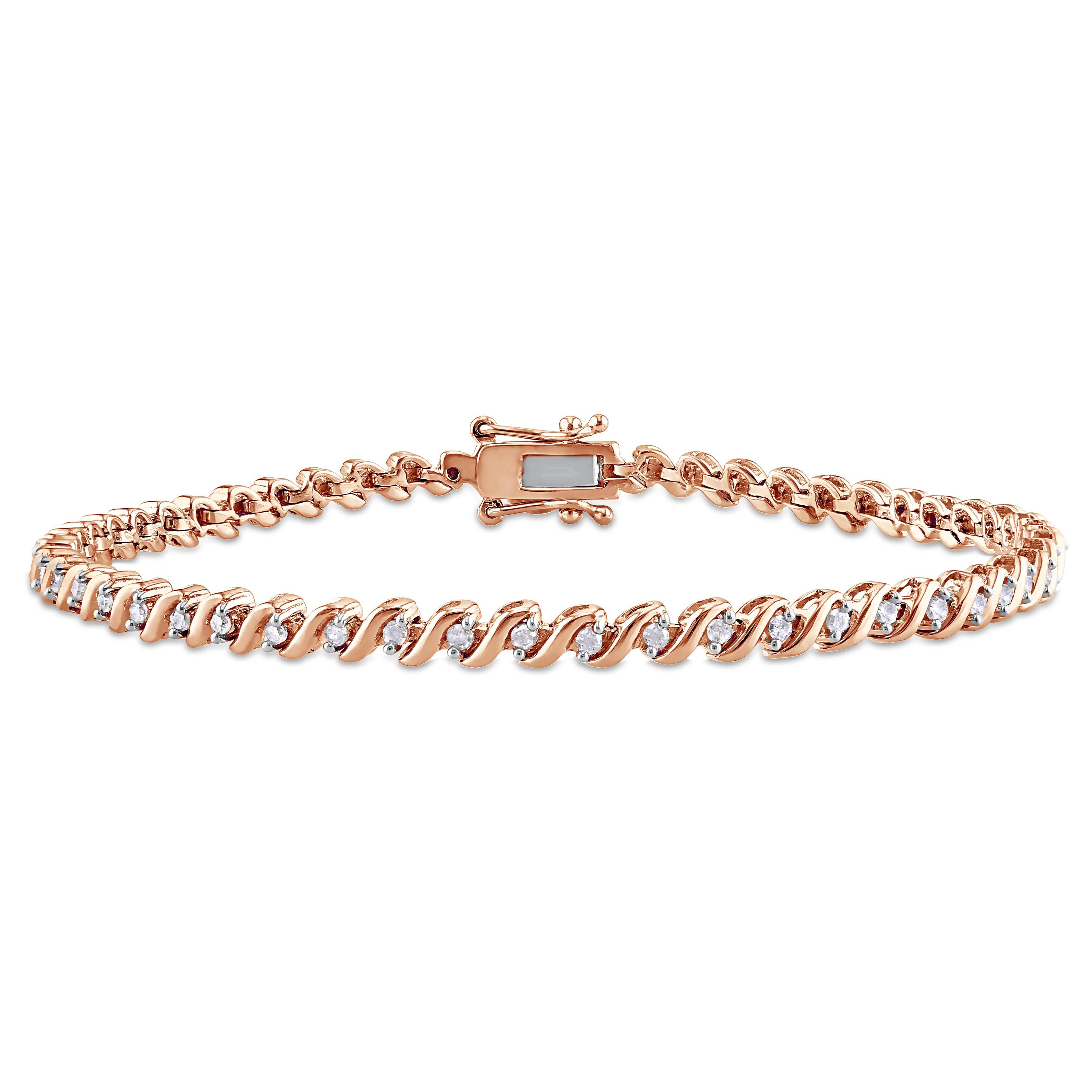 Round Diamond Tennis Bracelet 1/2ctw in Sterling Silver