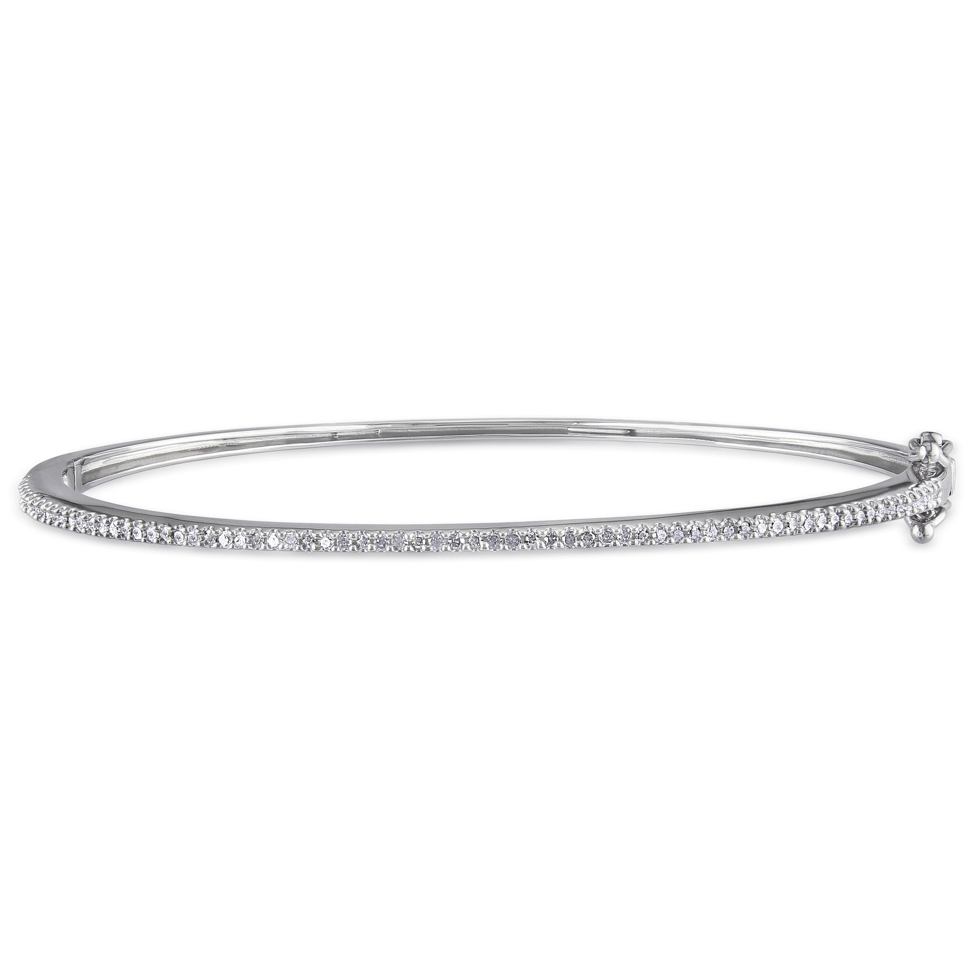 Diamond Bangle 1/4ctw in Sterling Silver