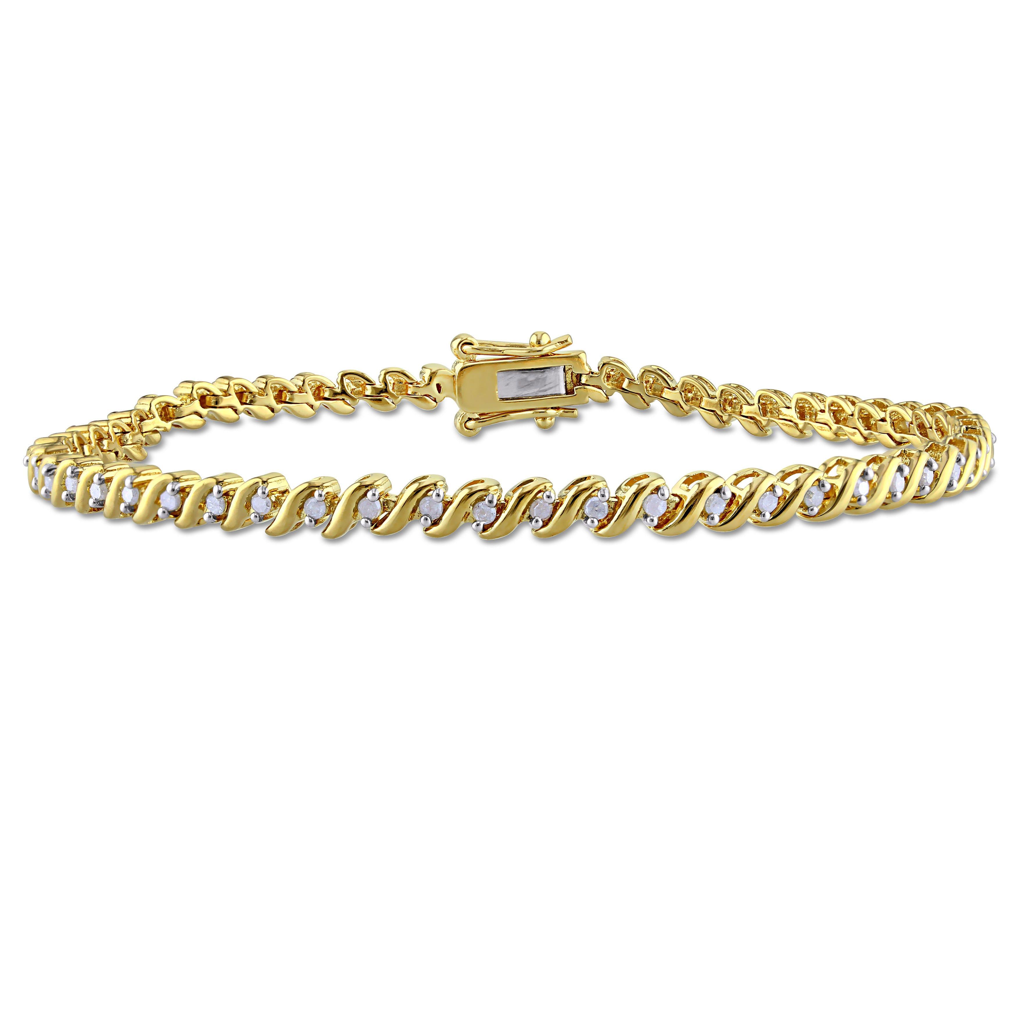 Diamond Tennis Bracelet 1/2ctw in Sterling Silver