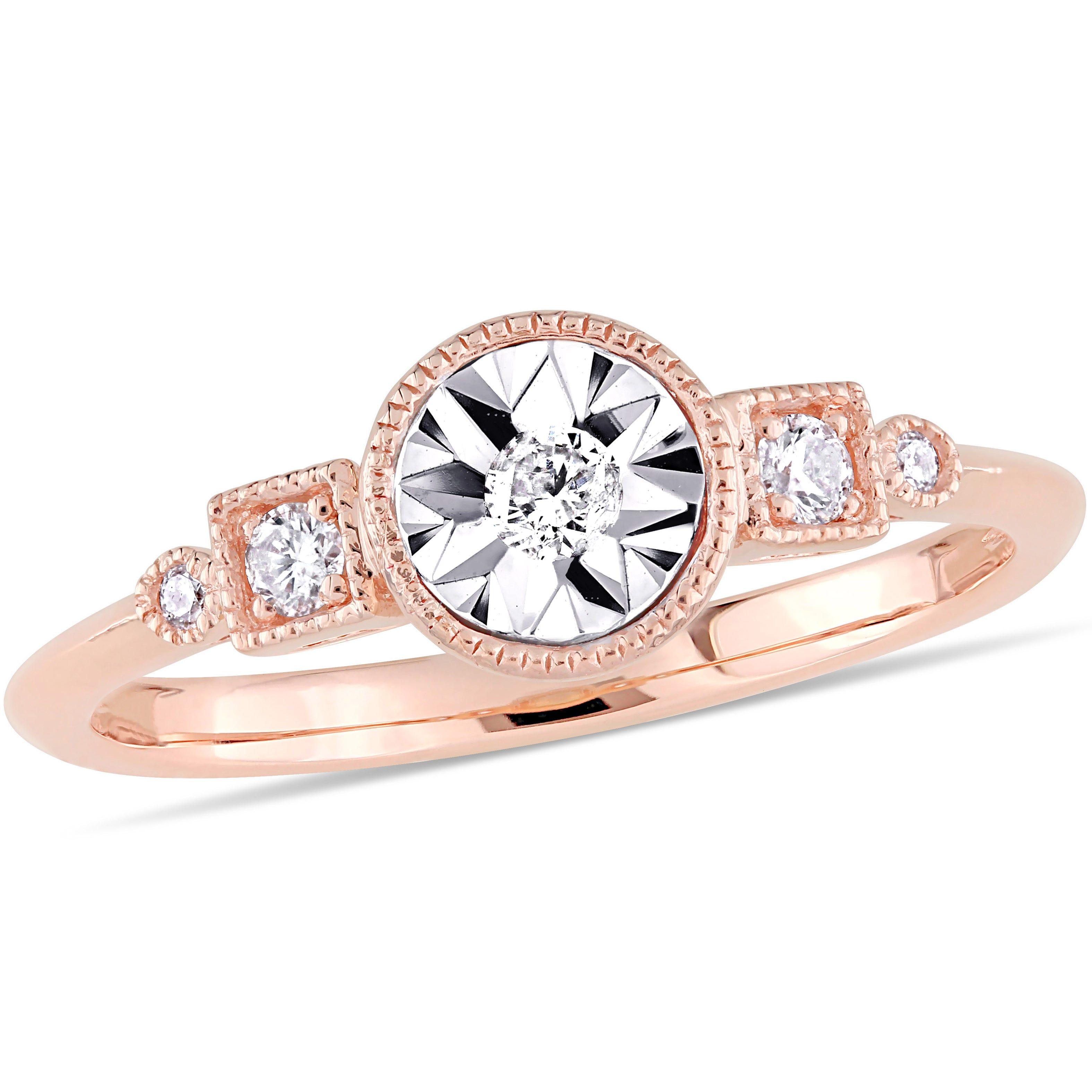 Diamond Engagement Ring 1/7ctw. in 10k Rose Gold