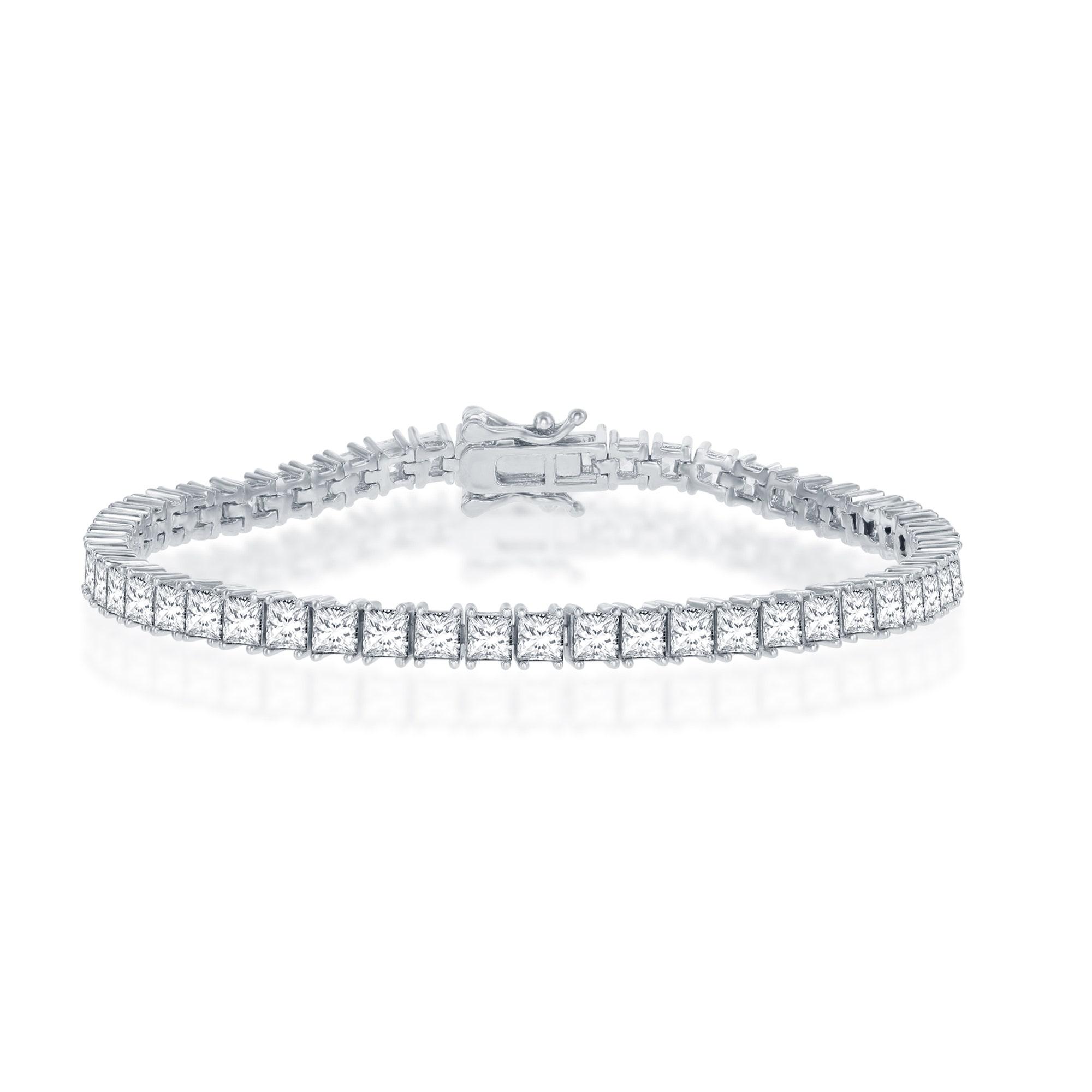 Sterling Silver Bar Bracelet Custom Bar CZ Diamond Bracelet Name Bracelet Mother/'s Day Gift for Her Christmas Gift Friendship