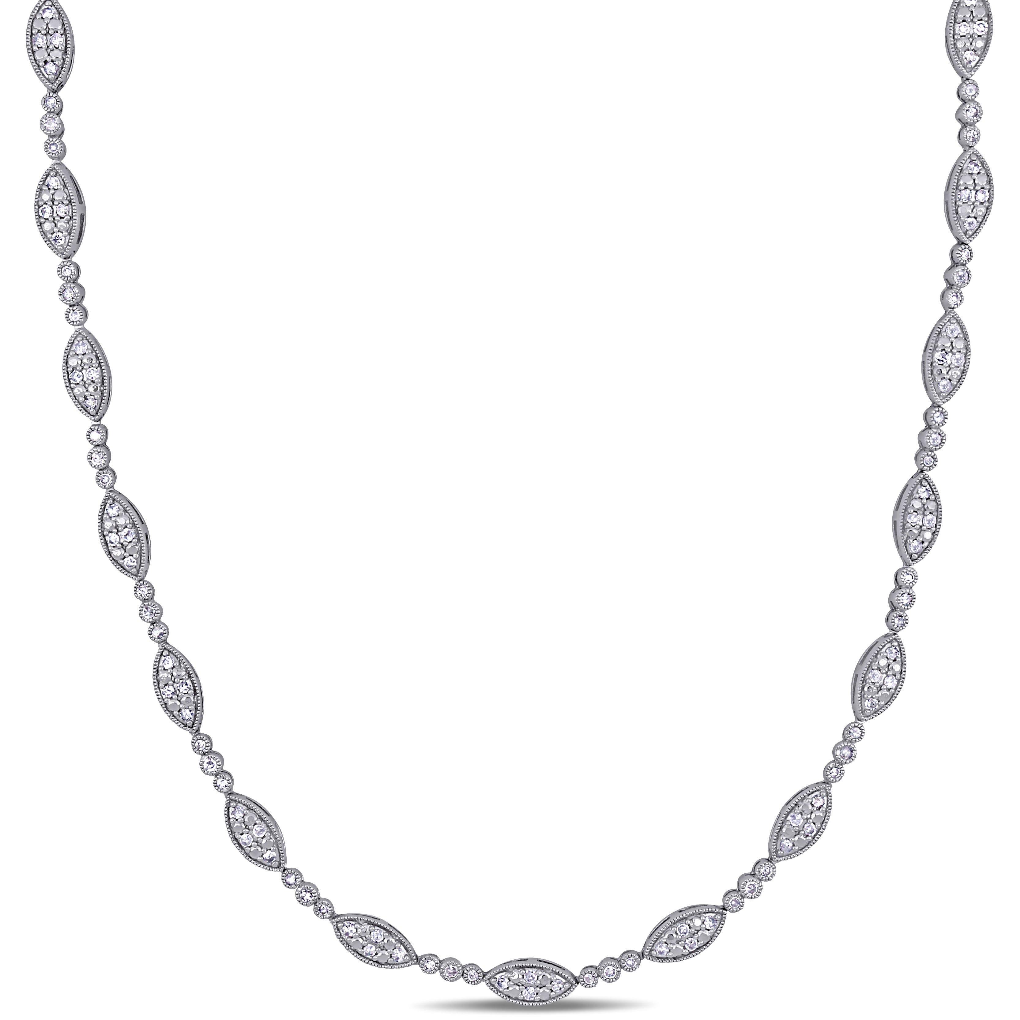 Diamond Tennis Necklace 2ctw in Sterling Silver