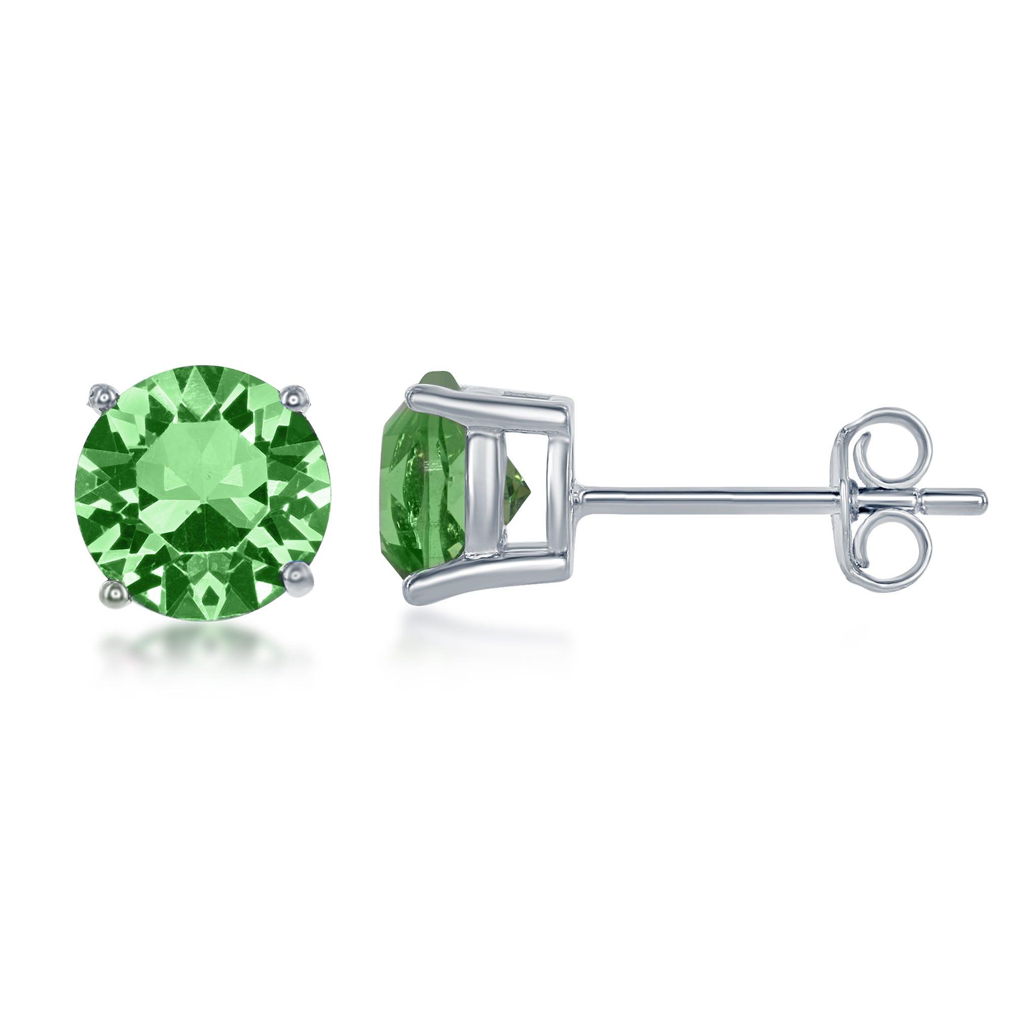 August Swarovski Crystal Earrings in Sterling Silver