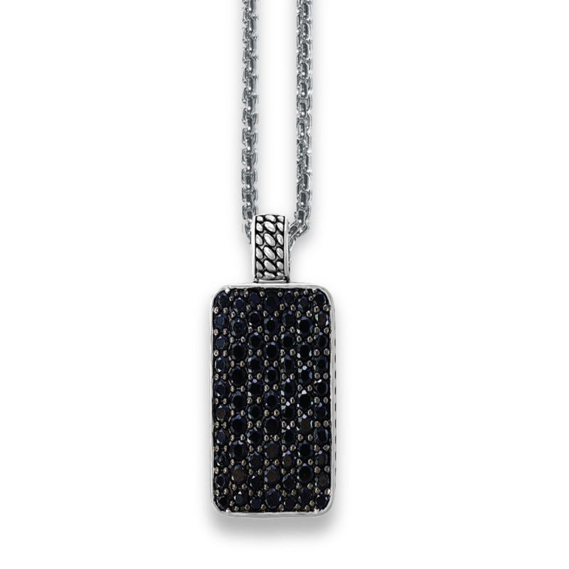 EFFY Black Spinel Pendant in Sterling Silver