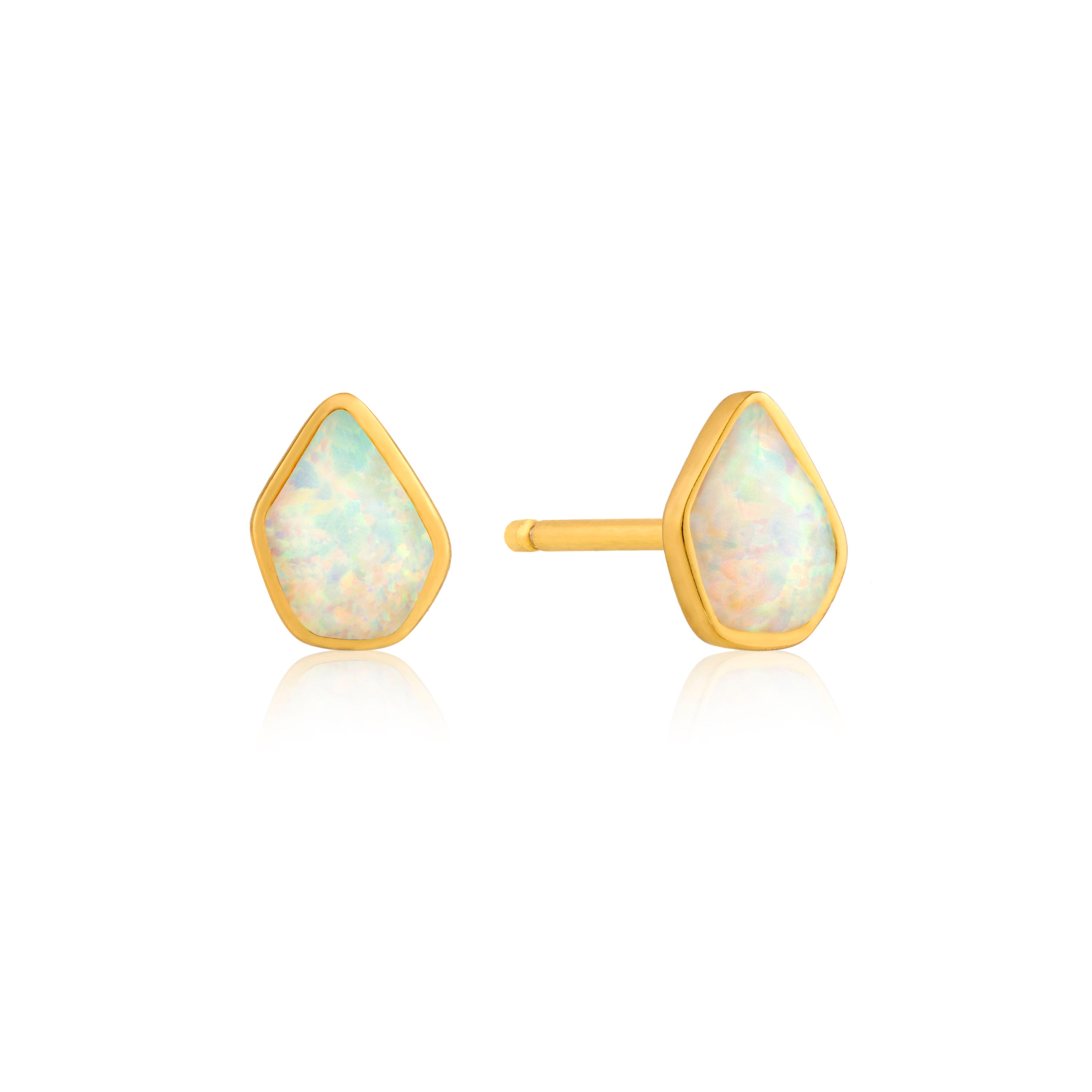 Opal Pear Stud Earrings in Sterling Silver/Gold Plated