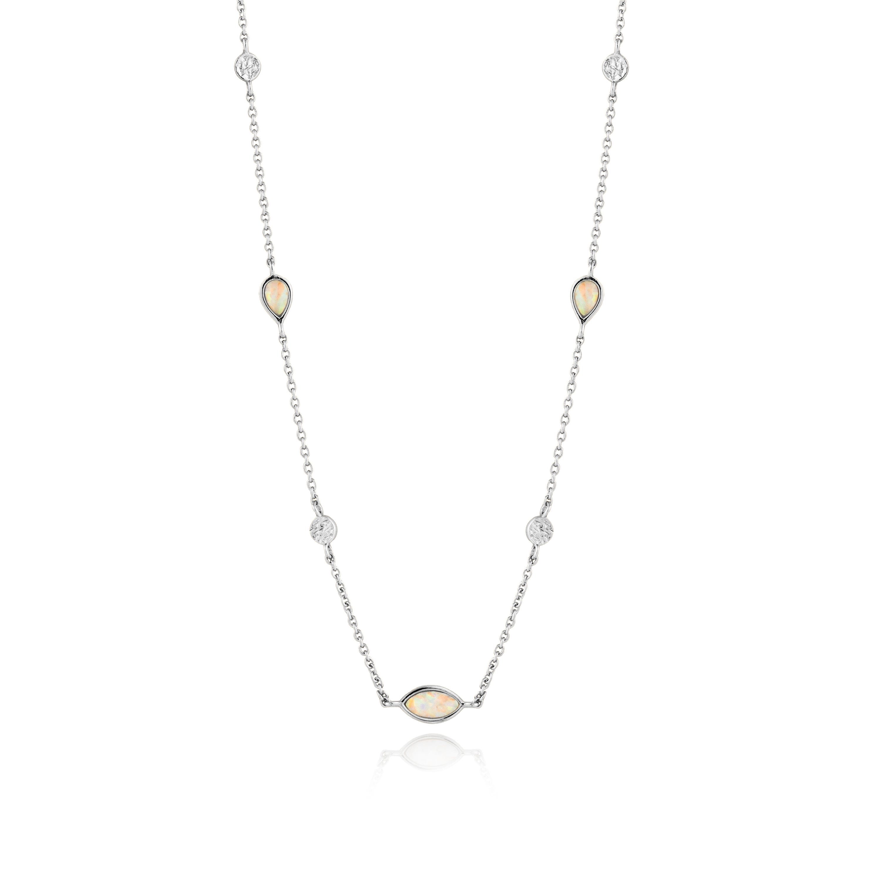 Opal Necklace in Sterling Silver
