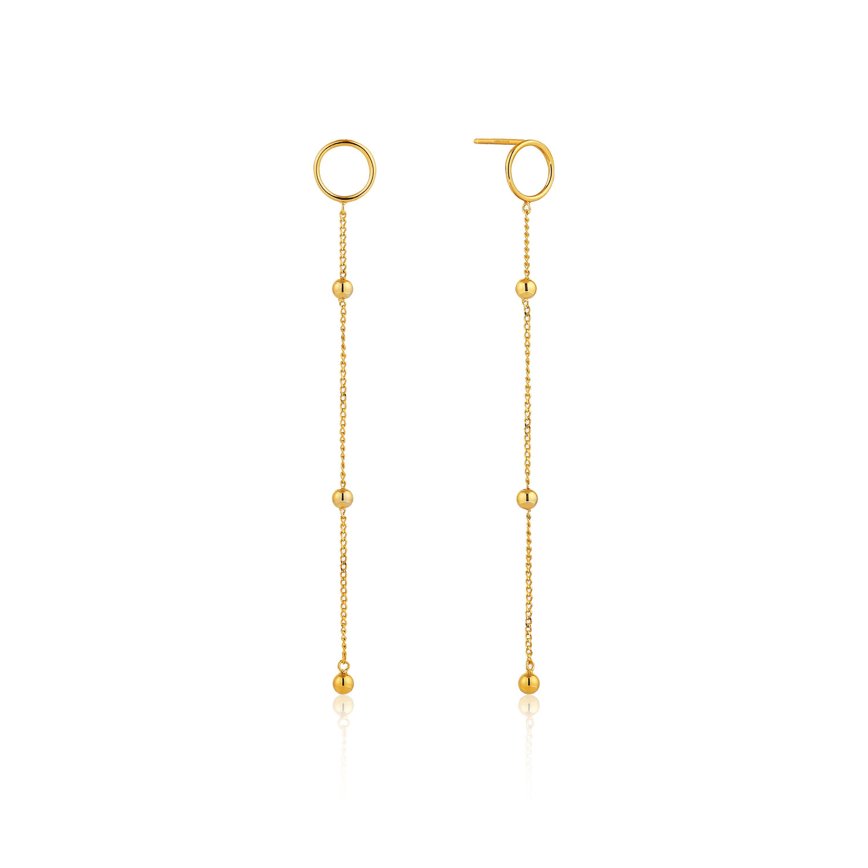 Modern Beaded Drop Earrings in Sterling Silver/Gold Plated