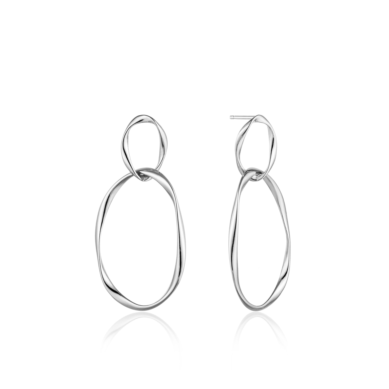 Swirl Nexus Earrings in Sterling Silver