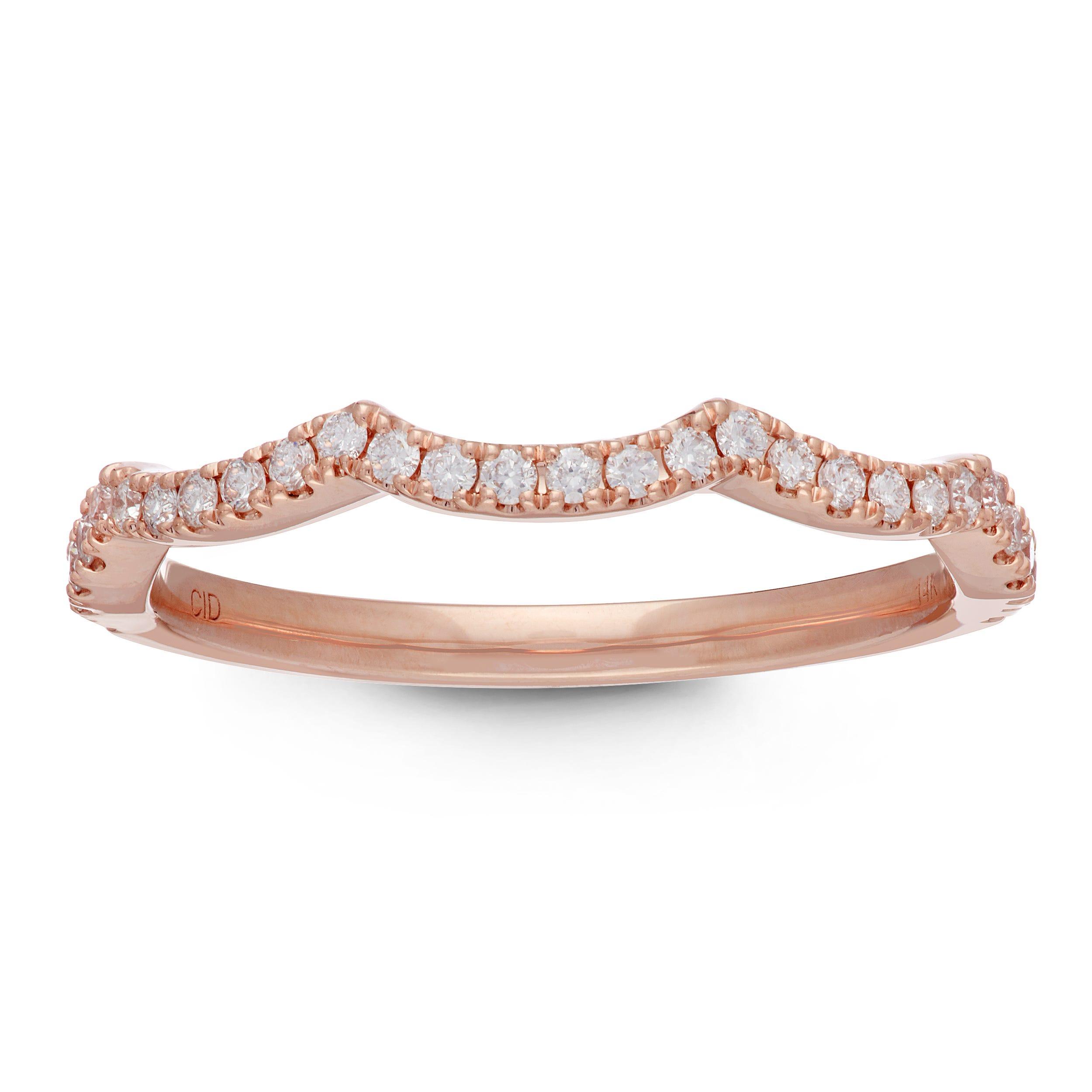 Diamond Wedding Band 1/5ctw. In 14k Rose Gold