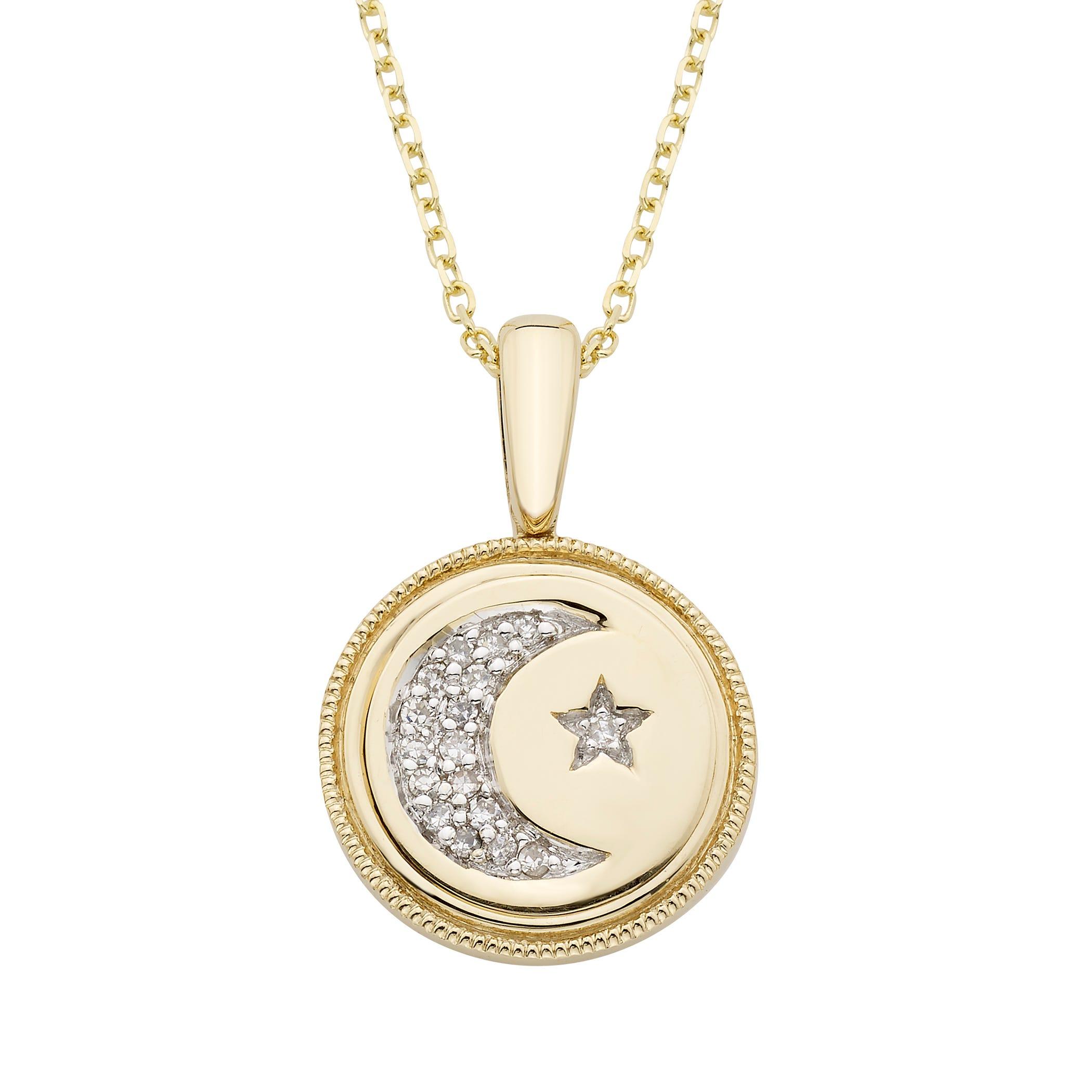 Diamond Celestial Pendant in 14k Yellow Gold