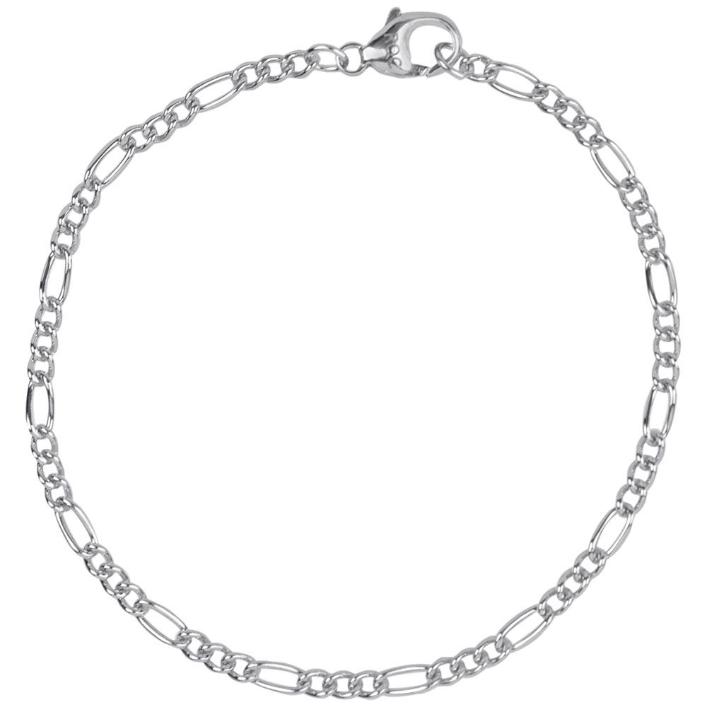 Petite Curbed Figaro Classic Bracelet in Sterling Silver