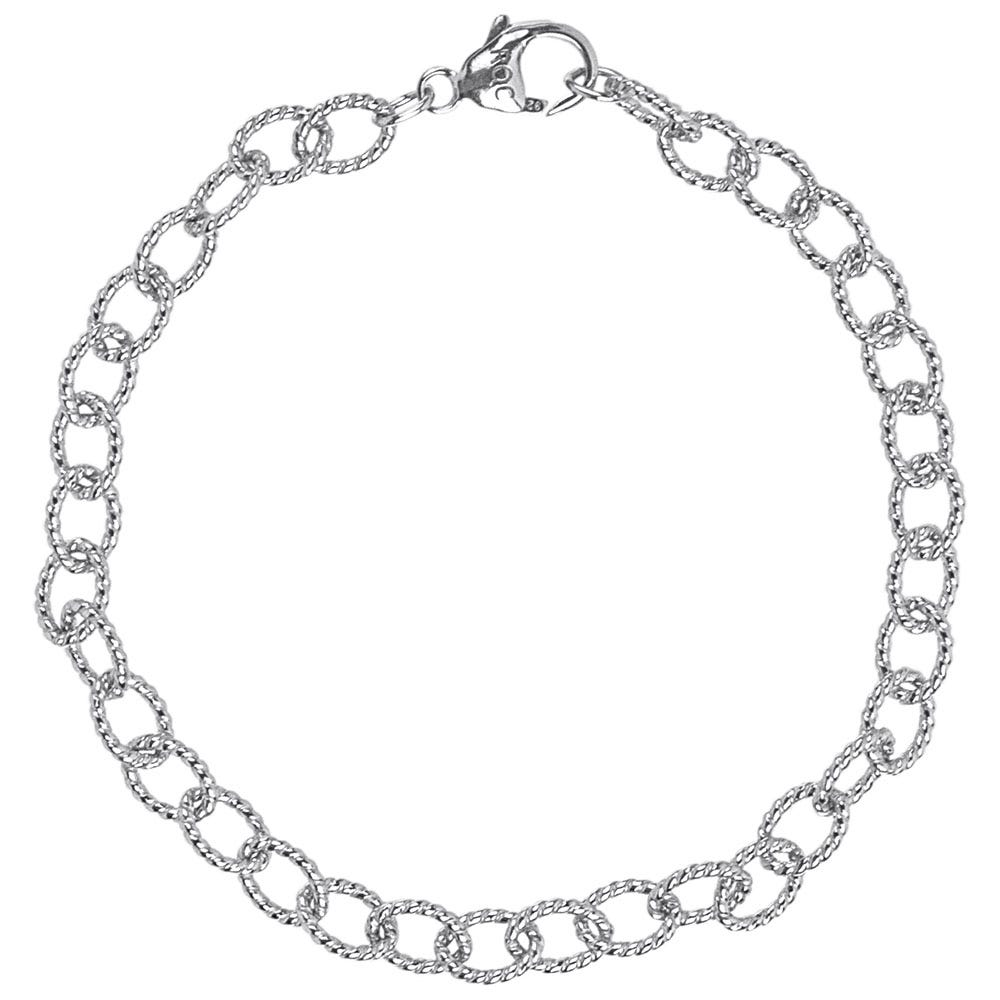 Twisted Link Classic Bracelet in Sterling Silver