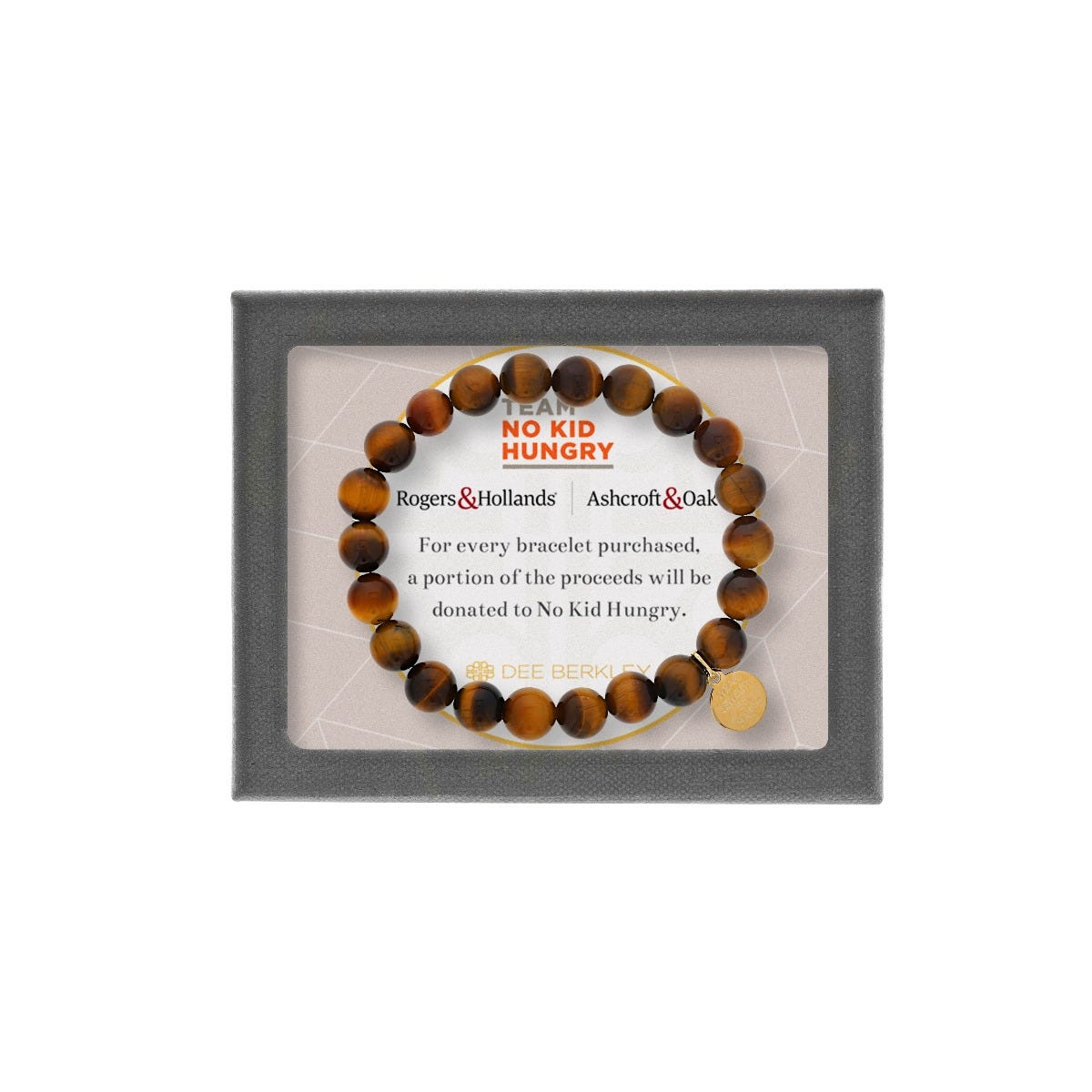 Support No Kid Hungry - Tiger Eye Beaded Bracelet