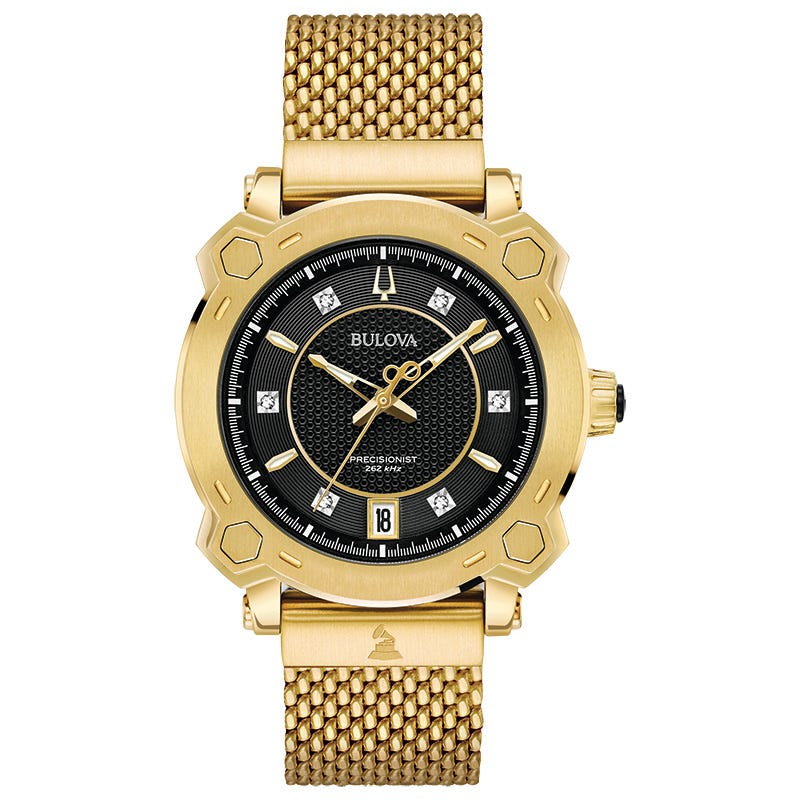 Bulova Men's Gold-Tone Grammy Watch 97P124