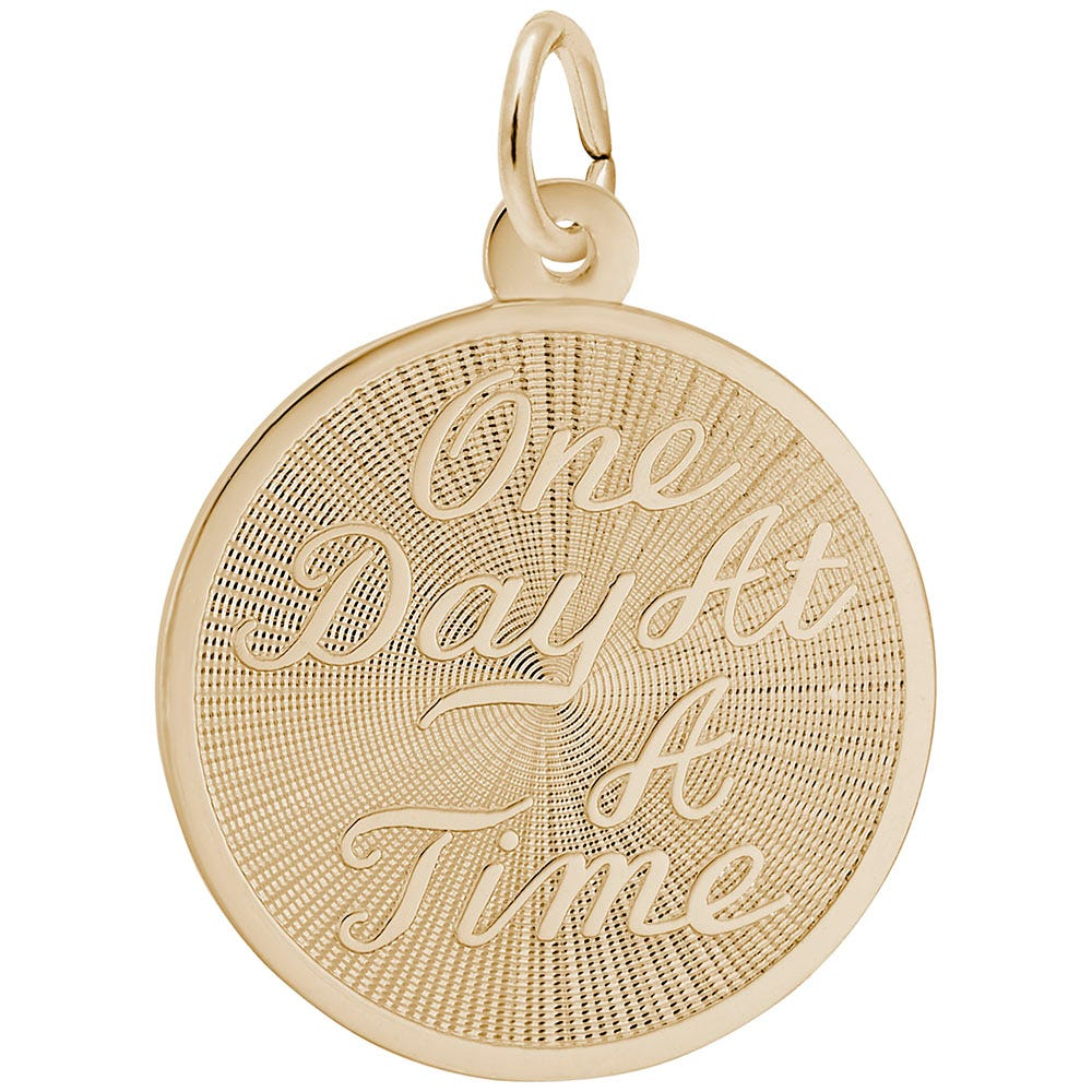 One Day at a Time Charm in Gold Plated Sterling Silver