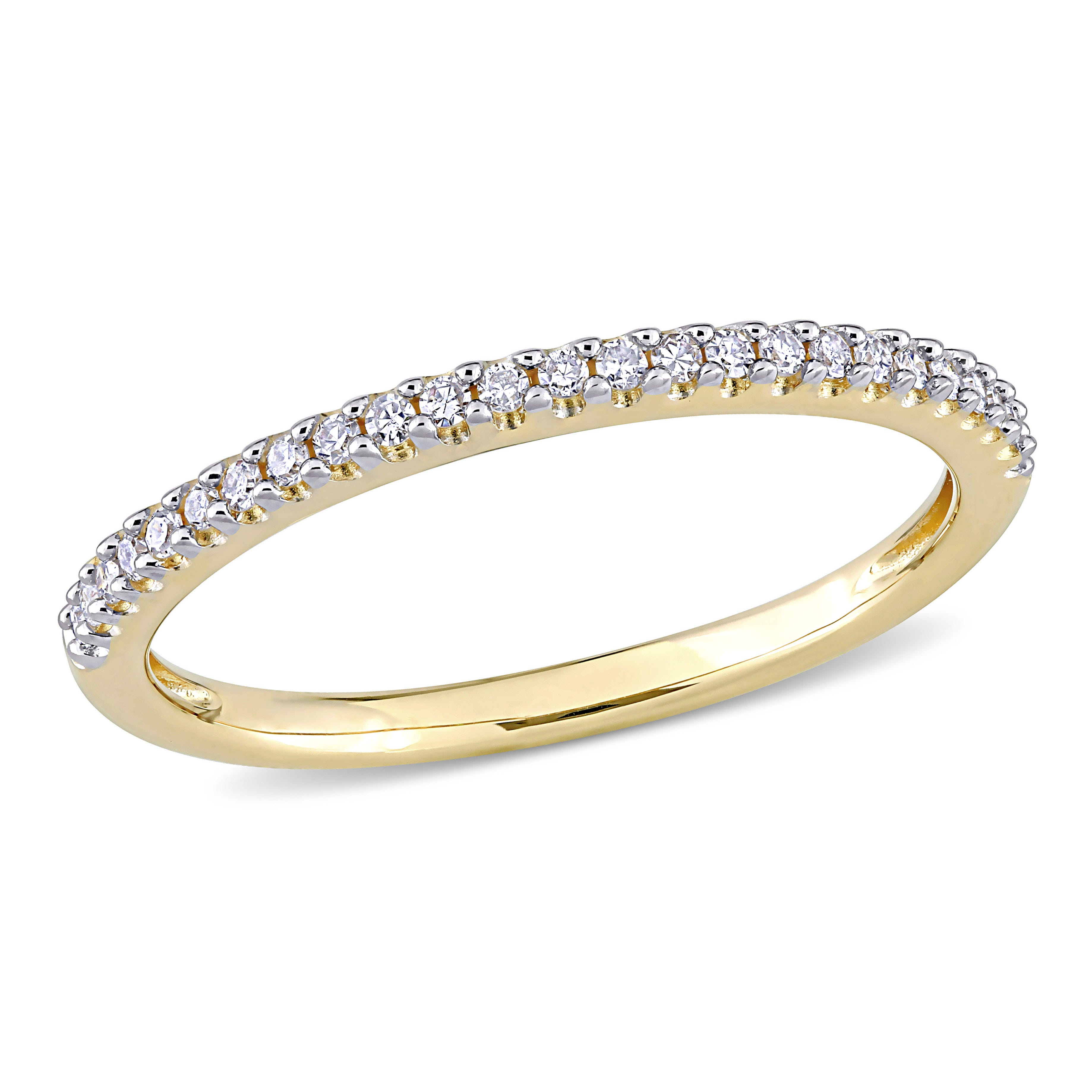 Diamond Semi-Eternity Ring in 14k Yellow Gold