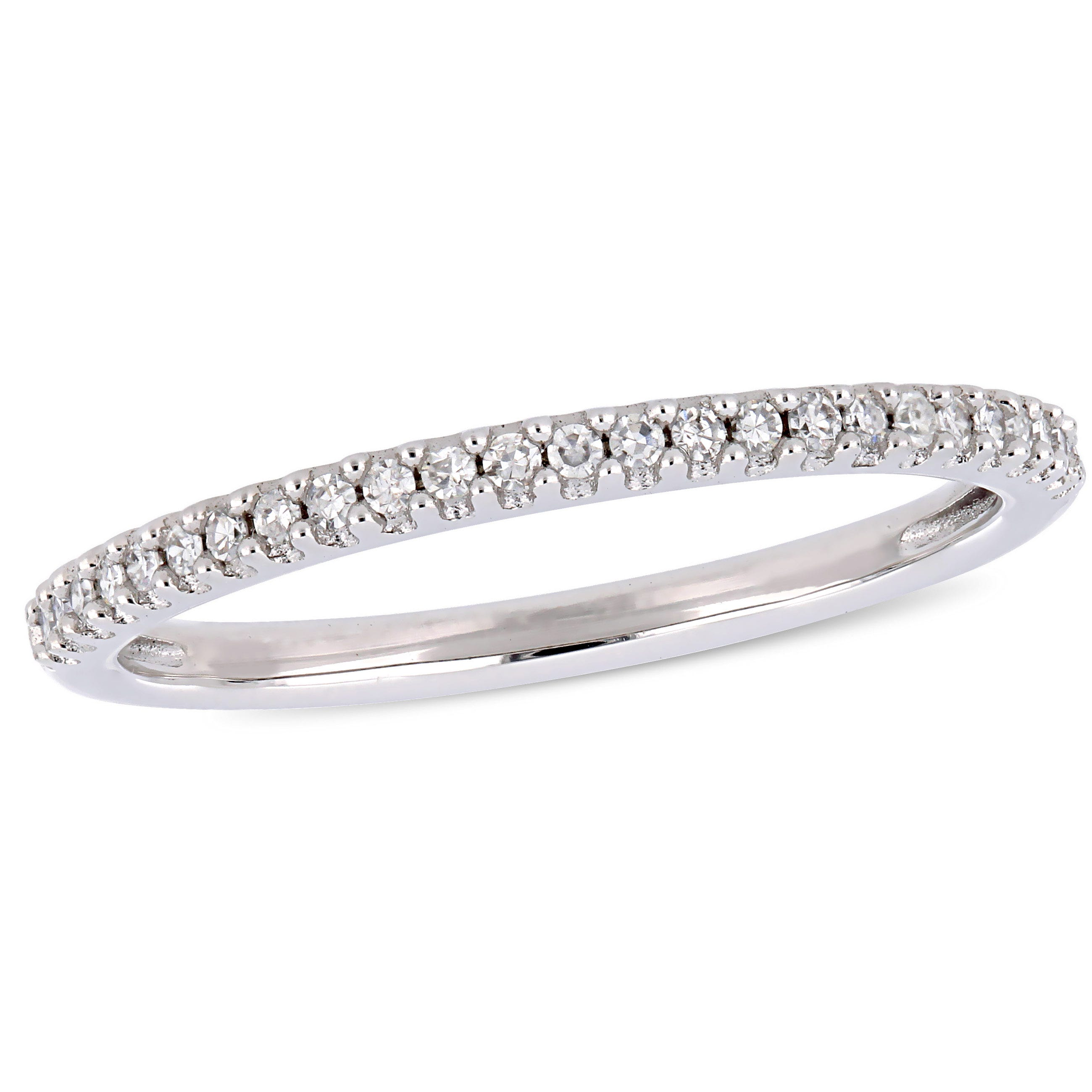 Diamond Stackable Wedding Band in 14k White Gold