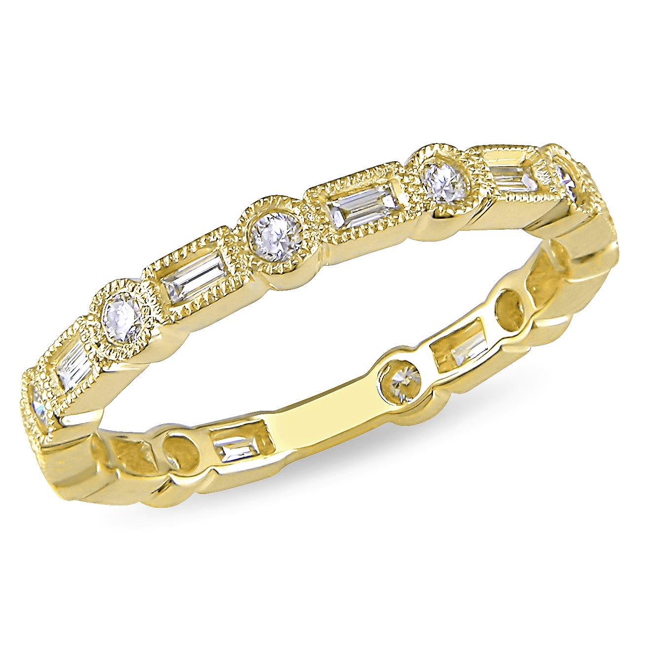 Diamond Eternity 1/2ctw. Band in 10k Yellow Gold