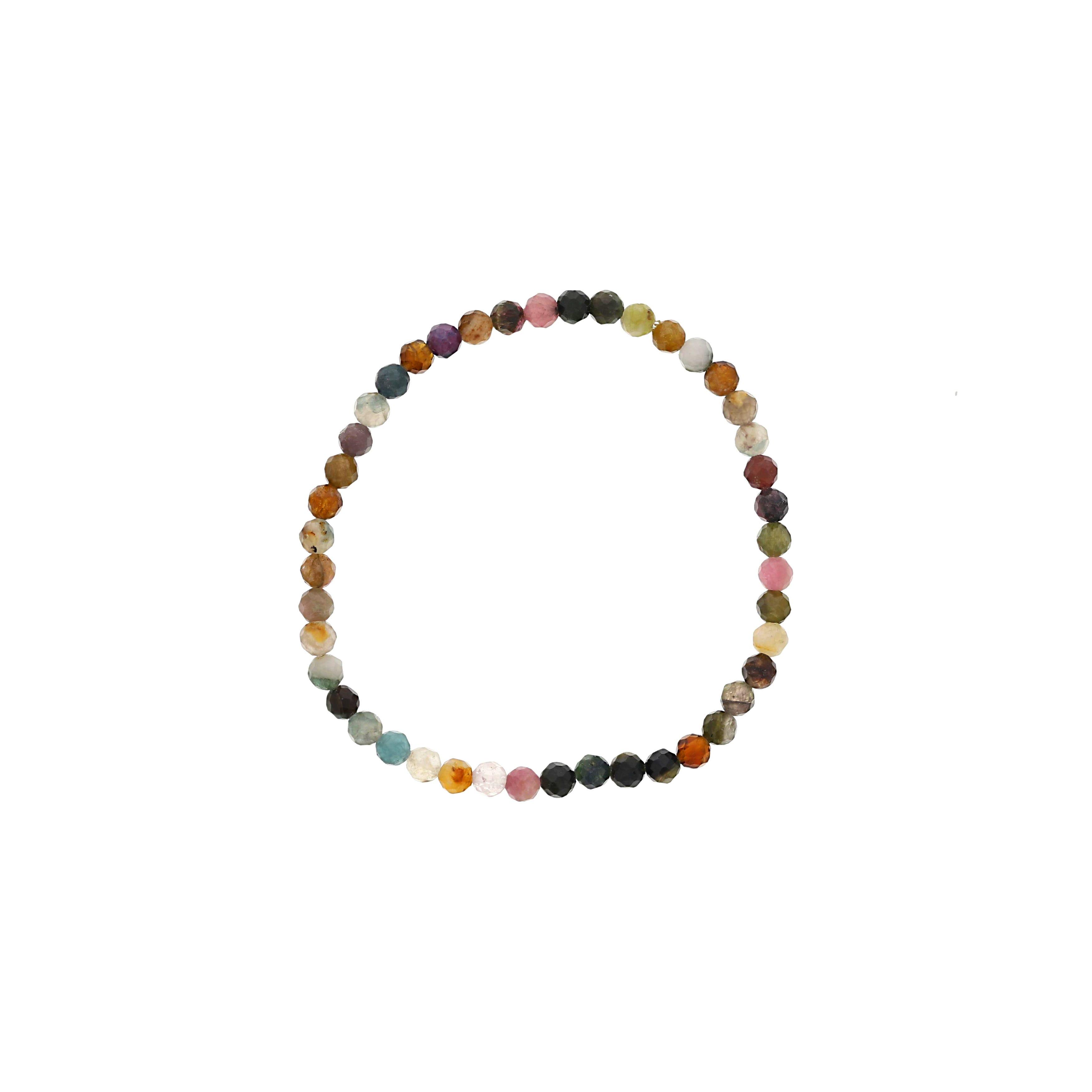 Multi-Color Tourmaline Beaded Bracelet