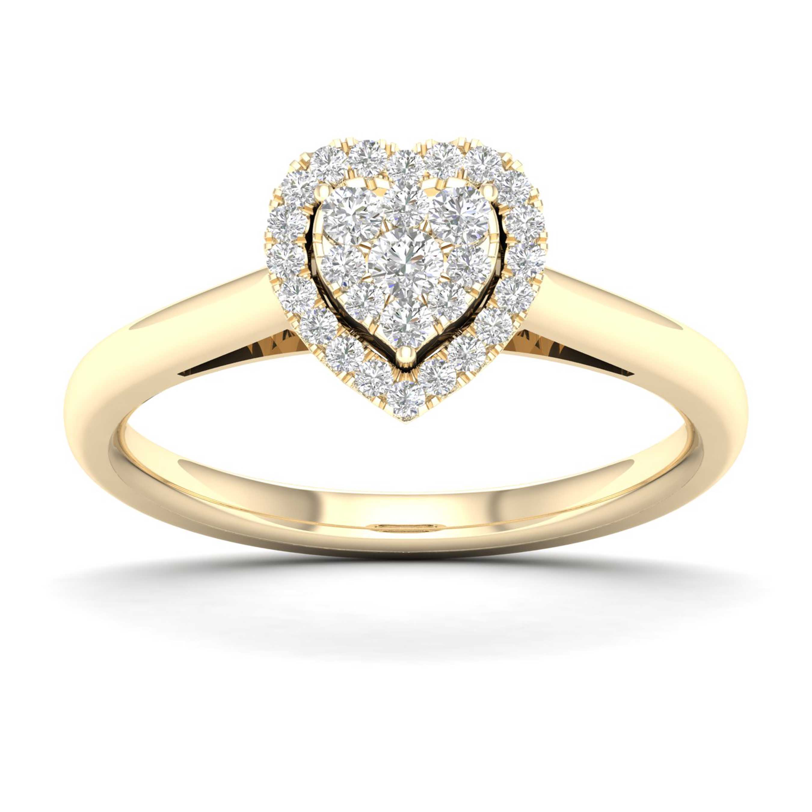 Promise Ring Yellow Gold Ring Engagement Diamond Ring Yellow Gold Engagement  Band