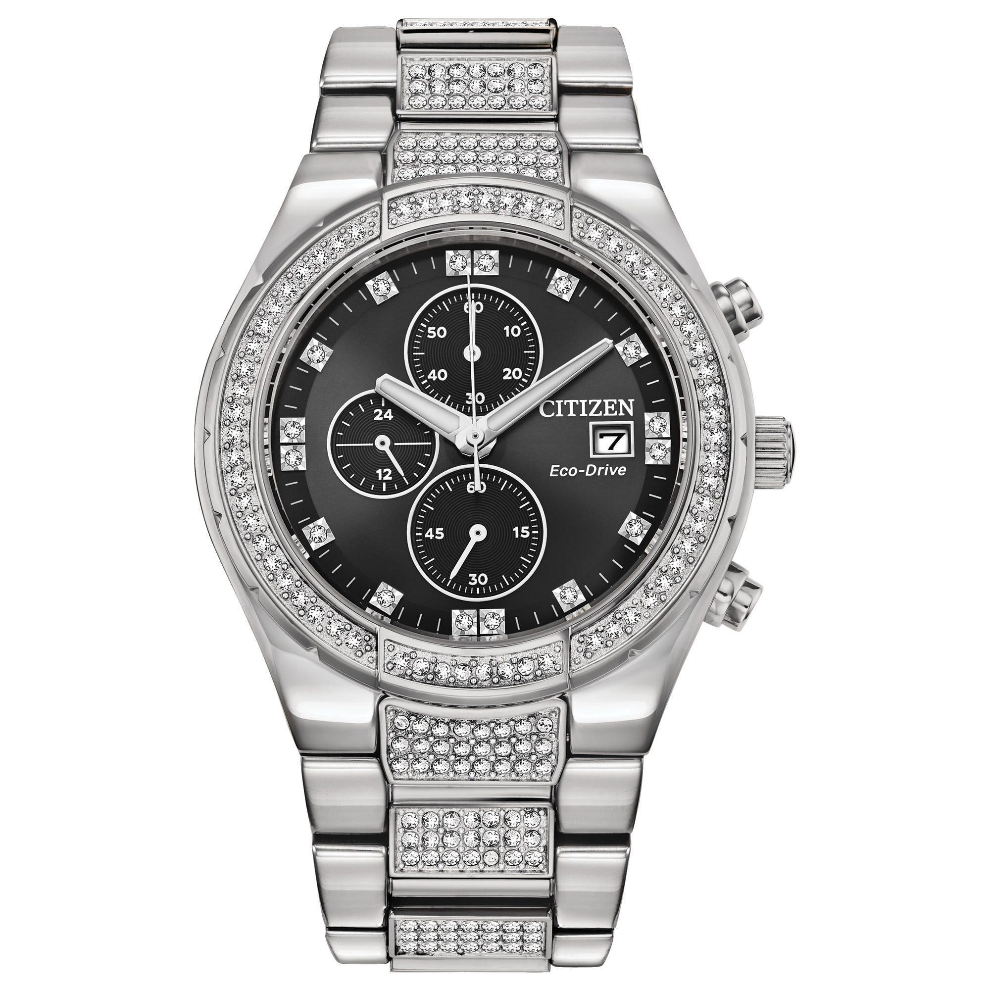 Citizen Men's Eco-Drive Crystal Watch CA0750-53E
