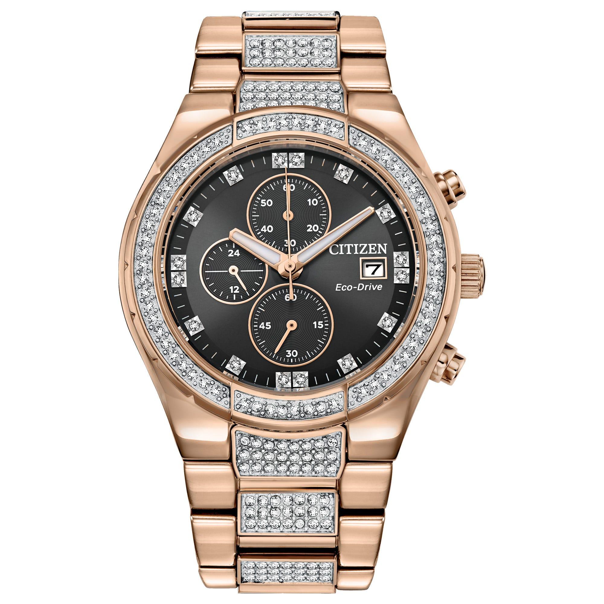 Citizen Men's Eco-Drive Crystal Watch CA0753-55E