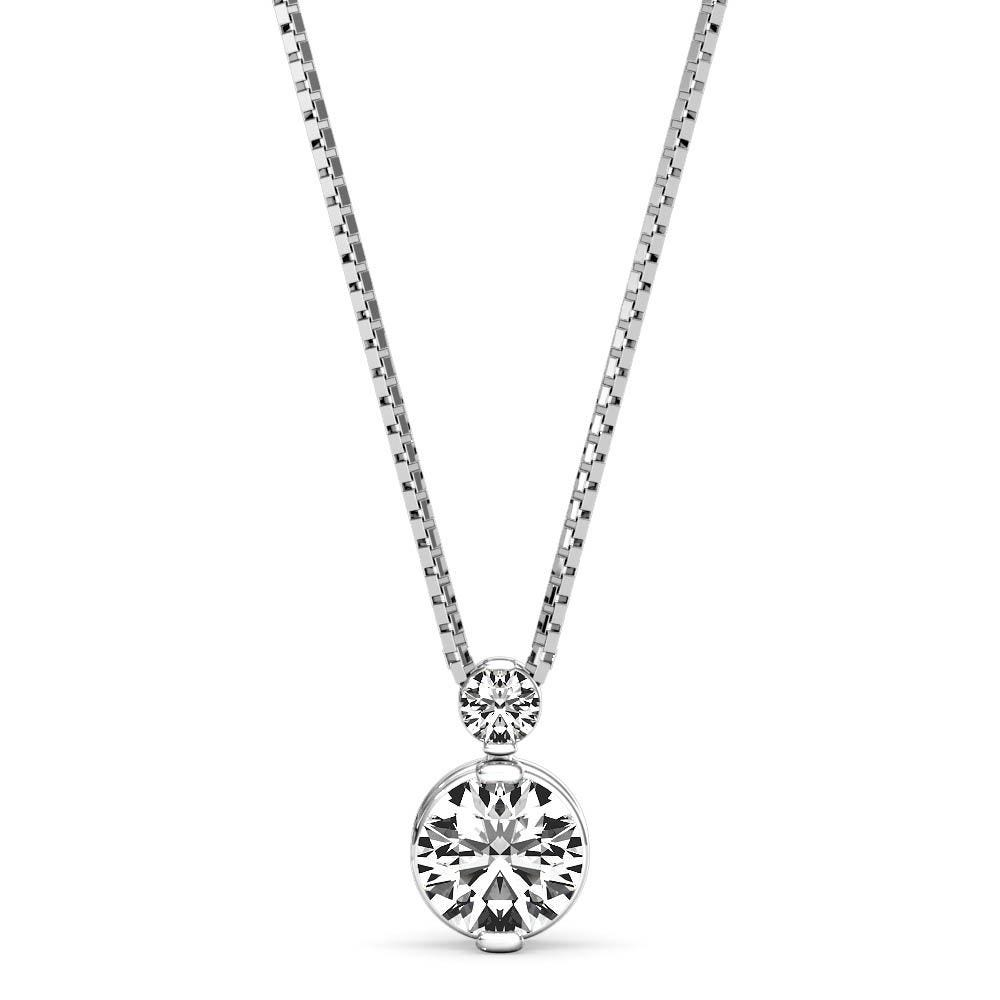 Diamond 0.25ctw. 2-Stone Pendant in 14k White Gold