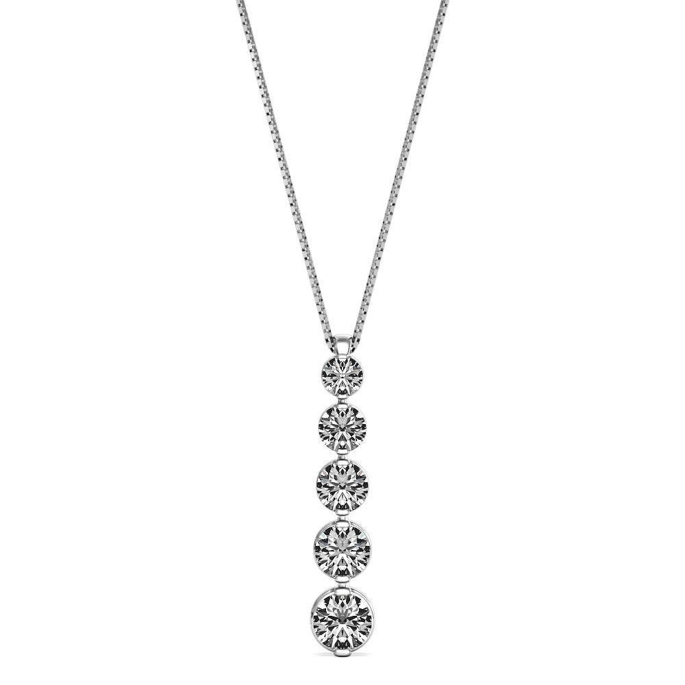 Diamond 0.50ctw. 4-Stone Pendant in 14k White Gold