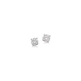 Lab Grown 1/8ctw. Brilliant-Cut Diamond Stud Earrings in 10k White Gold
