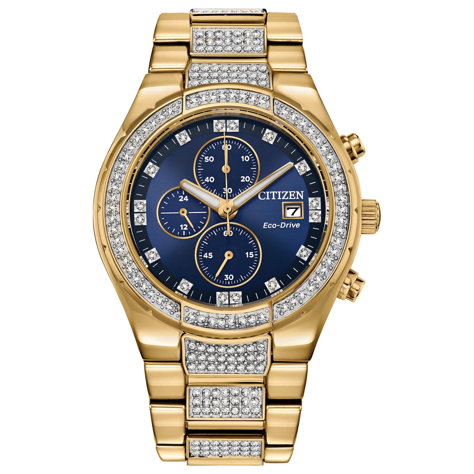 Citizen Men's Eco-Drive Crystal Watch CA0752-58L