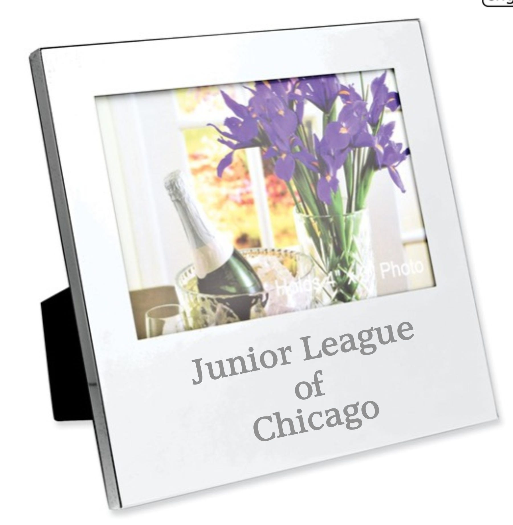 Junior League of Chicago Nickel-Plated Oversized 4x6 Photo Frame