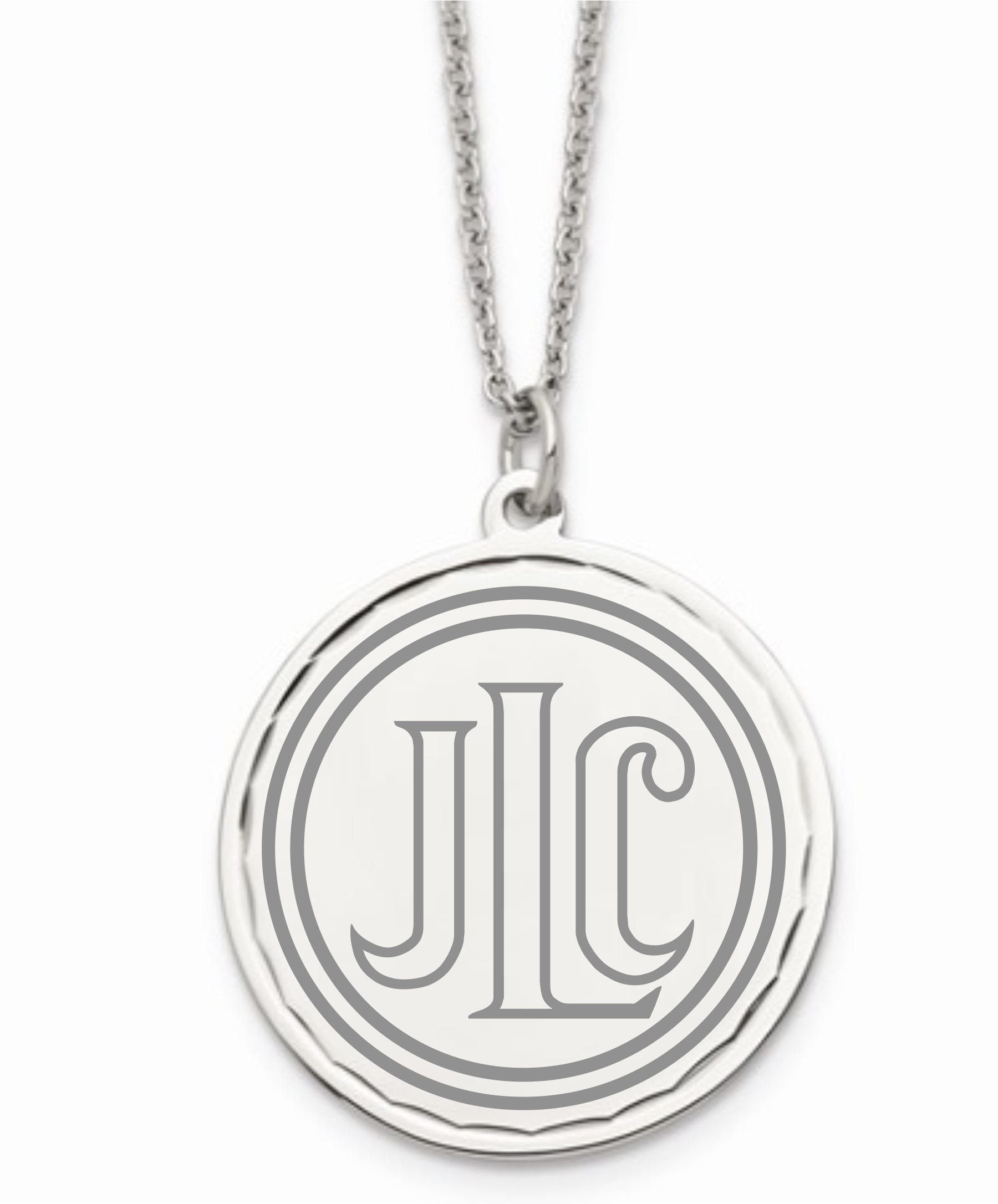 Junior League of Chicago Disc Pendant in Stainless Steel