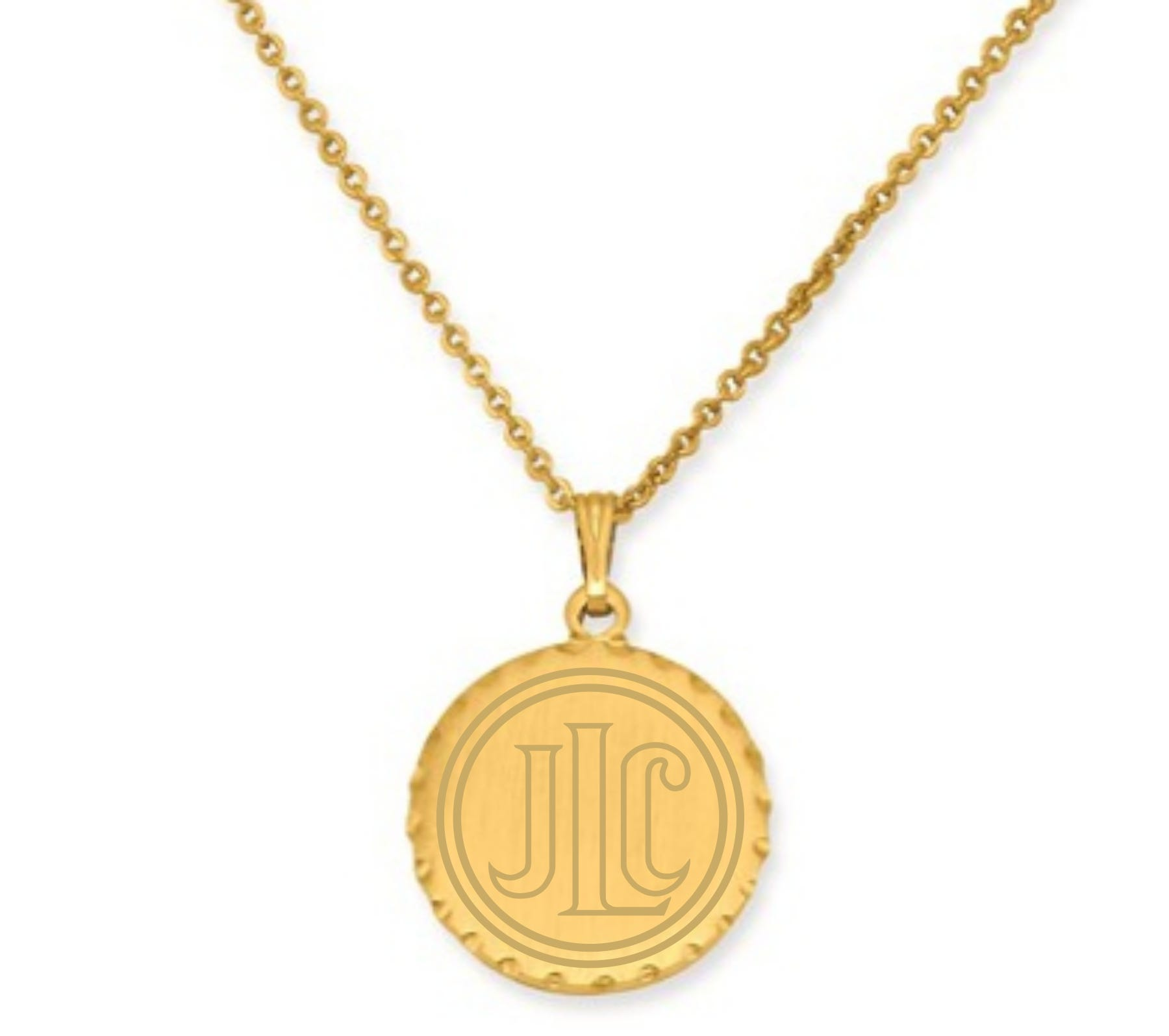 Junior League of Chicago Disc Pendant in Gold Plated Stainless Steel