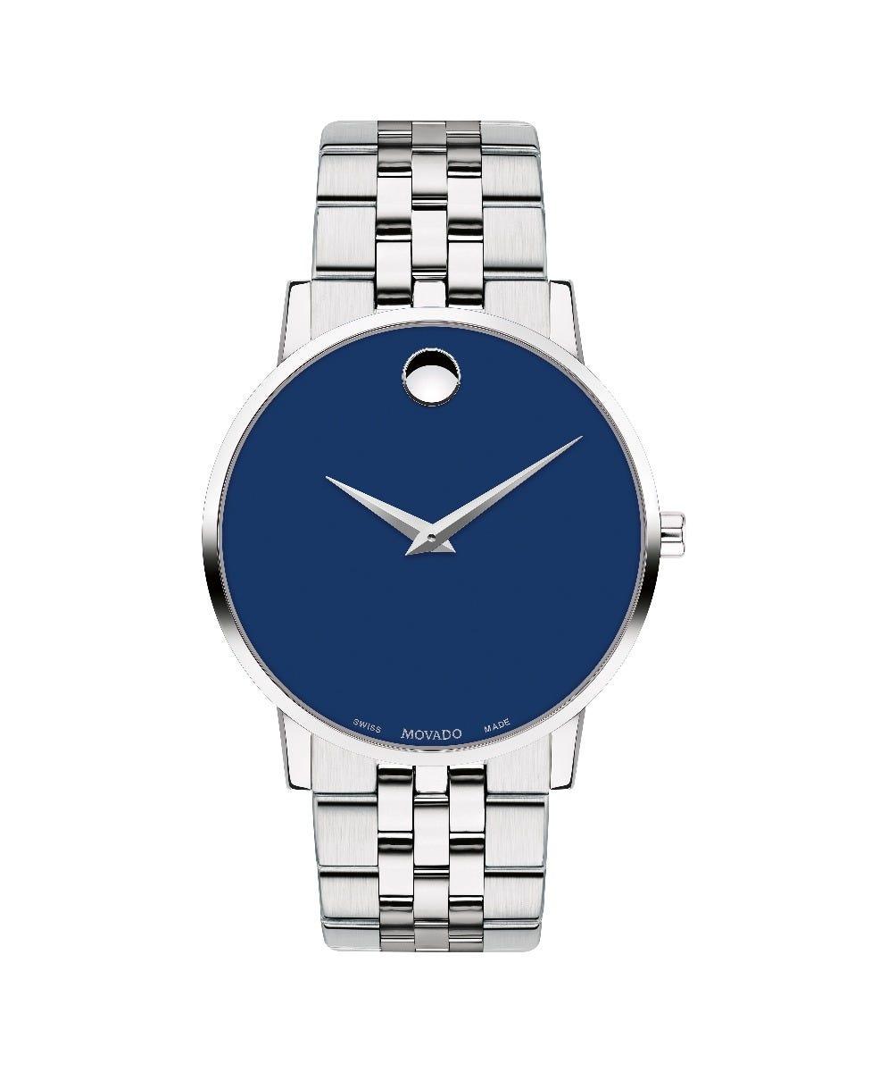 Movado Men's Blue Dial Museum Classic Watch 0607212
