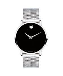Movado Men's Swiss Museum Classic Stainless Steel Mesh Bracelet Watch 40mm 607219