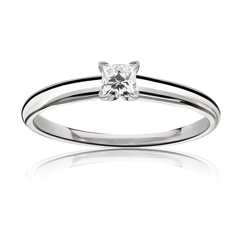 Diamond Princess-Cut 3/8ct. Top Classic Solitaire Engagement Ring