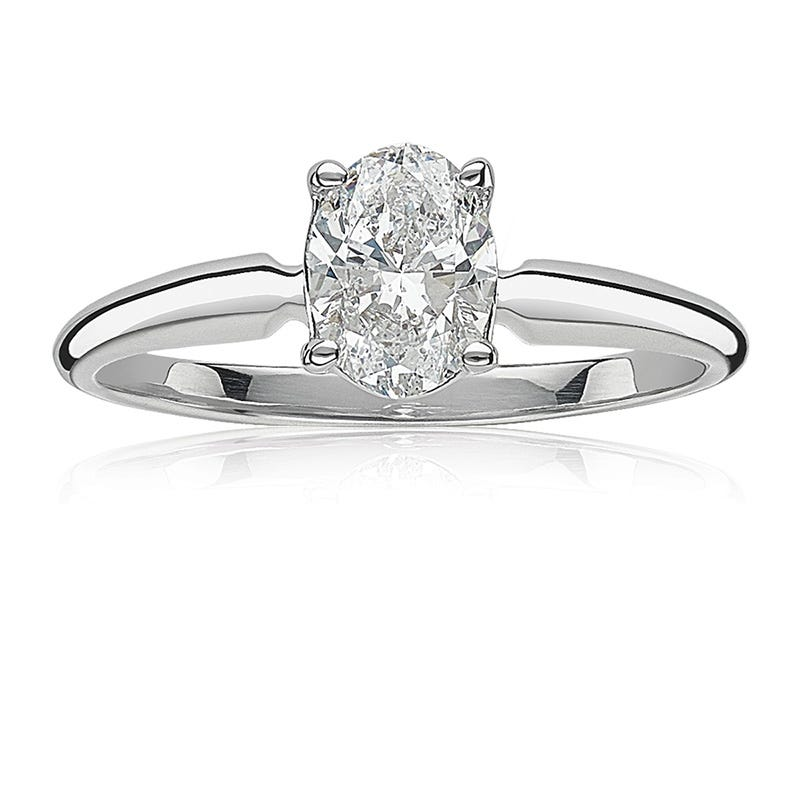Lab-Crafted Diamond Oval 1-1/4ct. Solitaire Engagement Ring