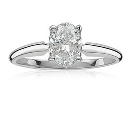 Lab Grown Diamond Oval 1.50ct. Solitaire Engagement Ring