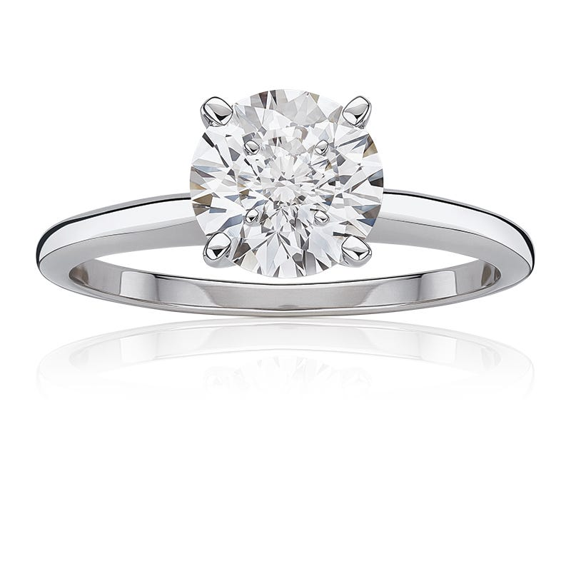 Lab-Crafted Diamond 2ct. Best Classic Round Solitaire Engagement Ring