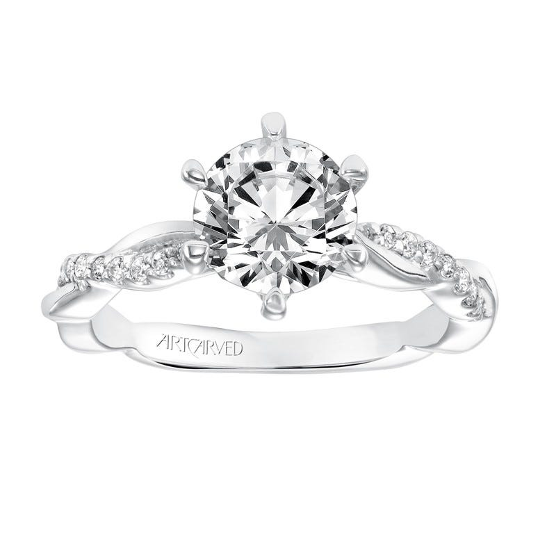 Marnie. ArtCarved Diamond Semi-Mount in 14k White Gold