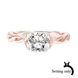Cherie. ArtCarved Diamond Semi-Mount in 14k Rose Gold