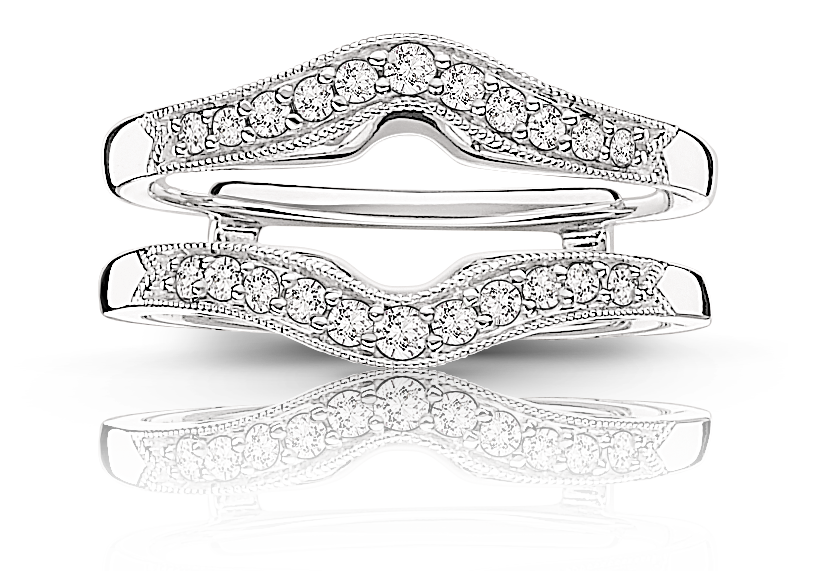 Diamond Ring Enhancer Wrap 1/4ctw. in 14k White Gold