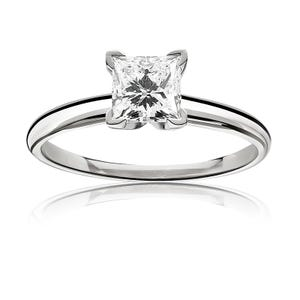 Solitaire Engagement Rings Rose White Yellow Gold