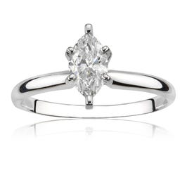Marquise-Cut 5/8ct. t.w. Diamond Solitaire Engagement Ring 14k White Gold