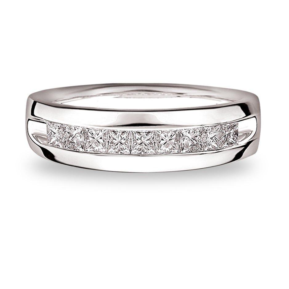 Men's Diamond  ½ctw. Wedding Band in 14k White Gold