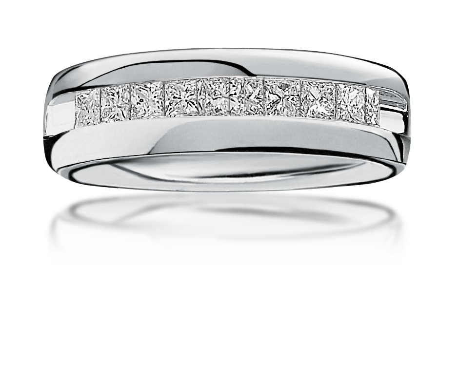 Men's Diamond  ½ctw. Wedding Band in 14k White Gold