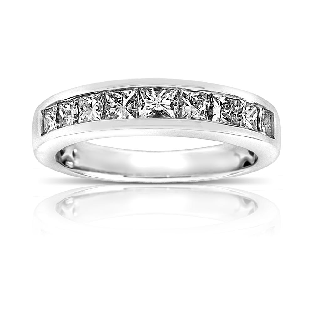 Legend. Princess-Cut 1ctw. Diamond Wedding Band in 14k White Gold