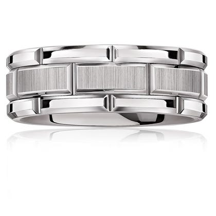 Triton Men's Tungsten Bright Cut Band